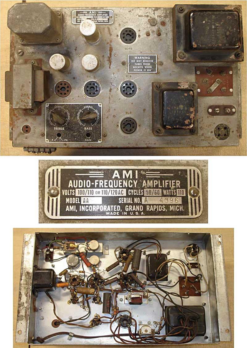 AMI AA Verstärker amplifier amplificateur - Mother of Plastic - Grand Prix