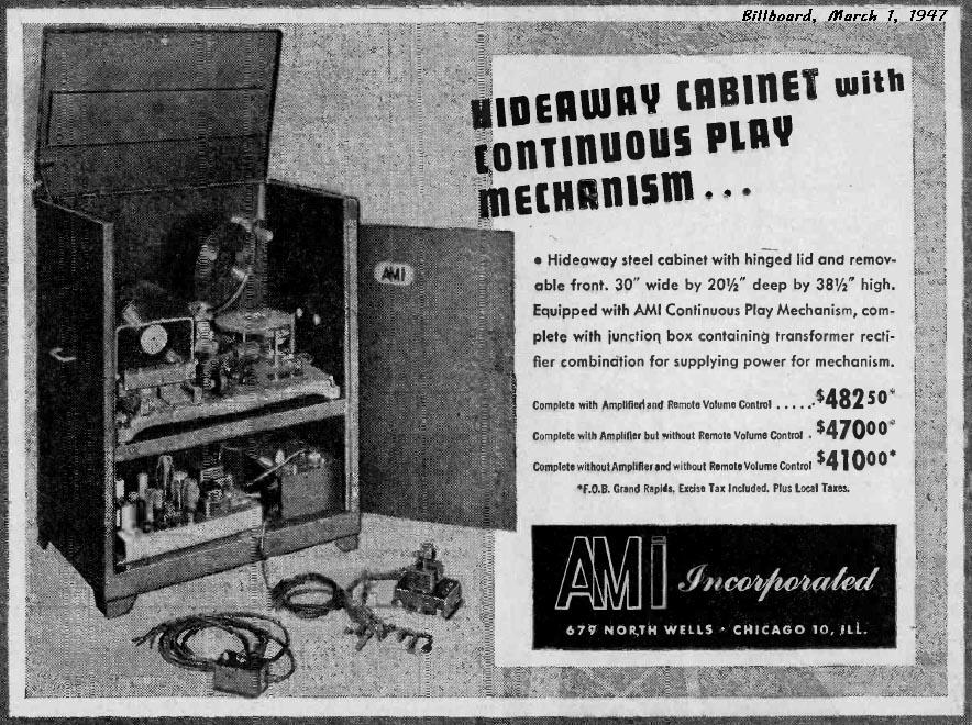 AMI Musikbox Jukebox Hideaway
