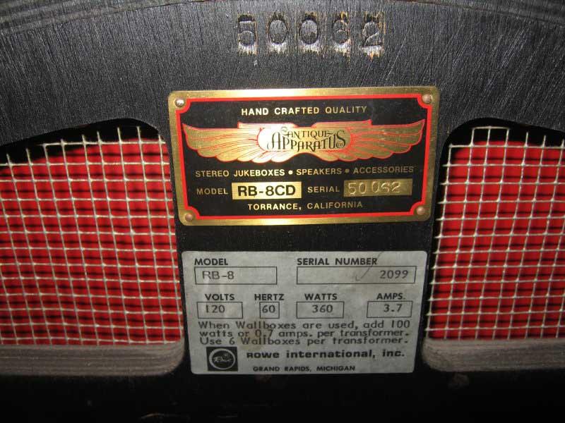 Rowe/AMI Bubbler Nostalgia RB-8 CD