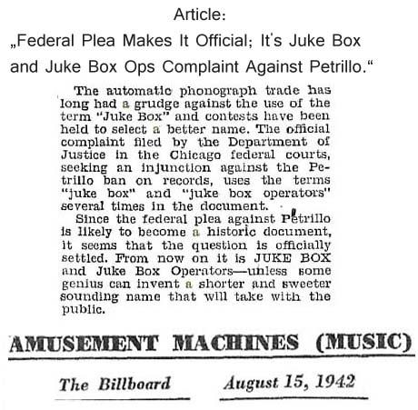 Begriff Jukebox Term