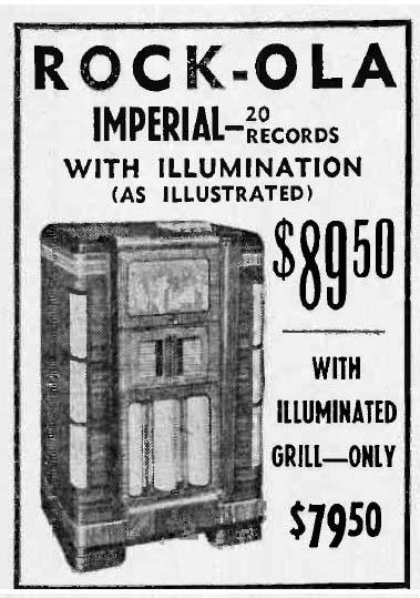 Rock-Ola Imperial Gerber & Glass