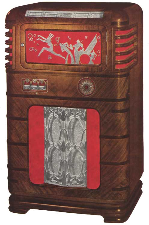 Wurlitzer 616 Jacobs Novelty Jukebox Phonograph