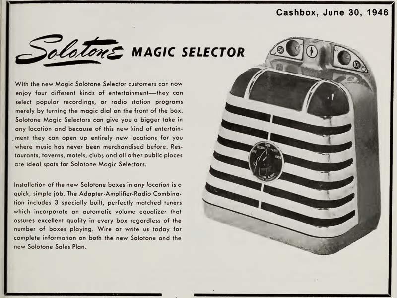 Solotone Jukebox Musikbox