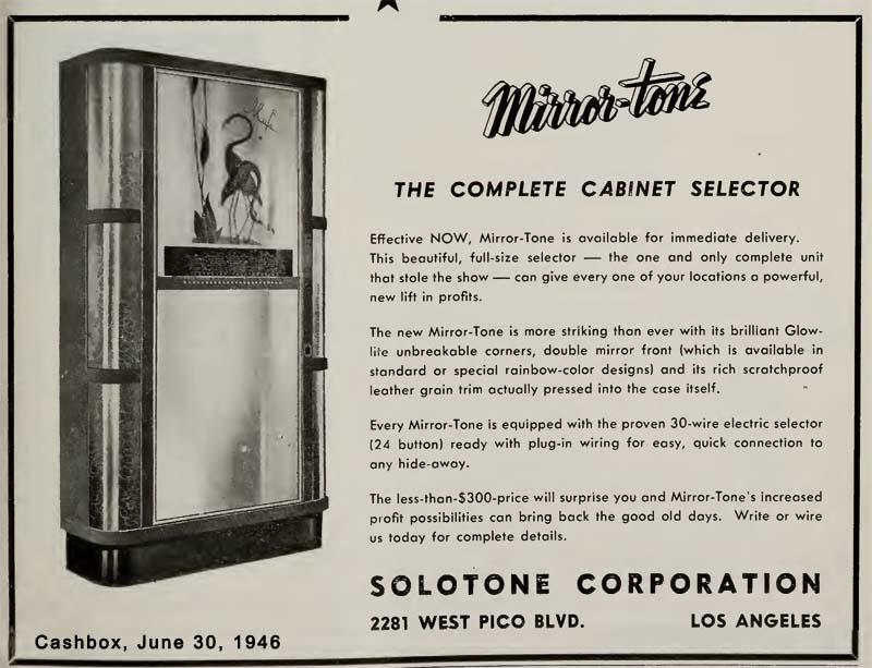 Solotone Mirror-Tone Jukebox Musikbox