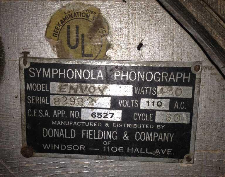 Fielding Envoy Phonograph