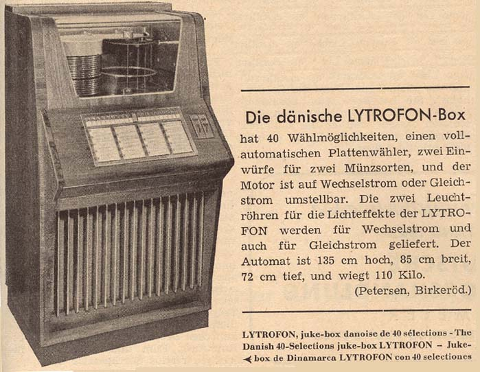 Petersen Lytrofon Jukebox Denmark