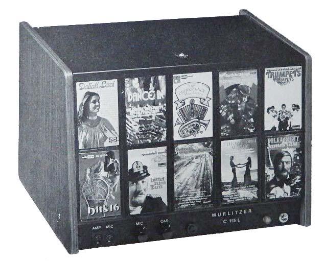 C 115L Wurlitzer Kassettenbox Cassettenbox