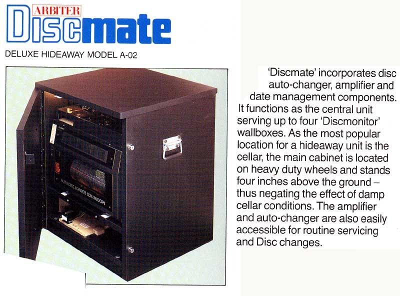 Arbiter Leisure Discmate A-02 CD Hideaway Wallbox Jukebox