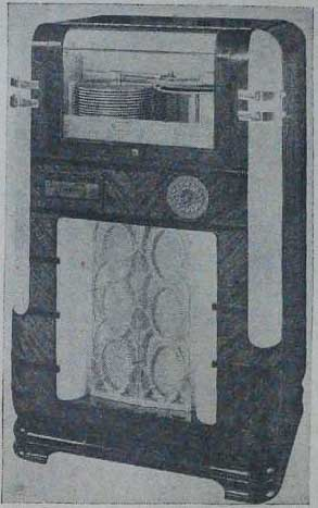 Wurlitzer 616 KEB England Jukebox Phonograph