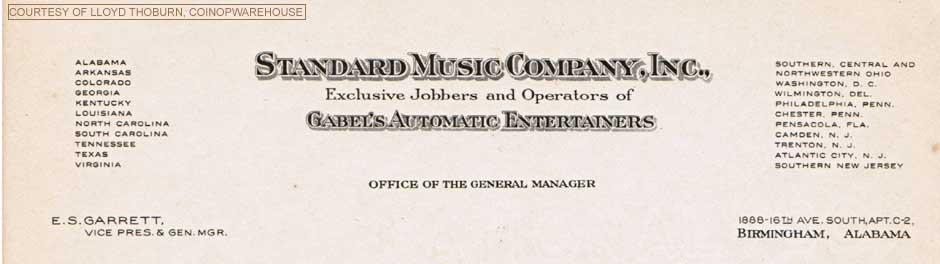 Gabel Letterhead Jukebox Musikbox