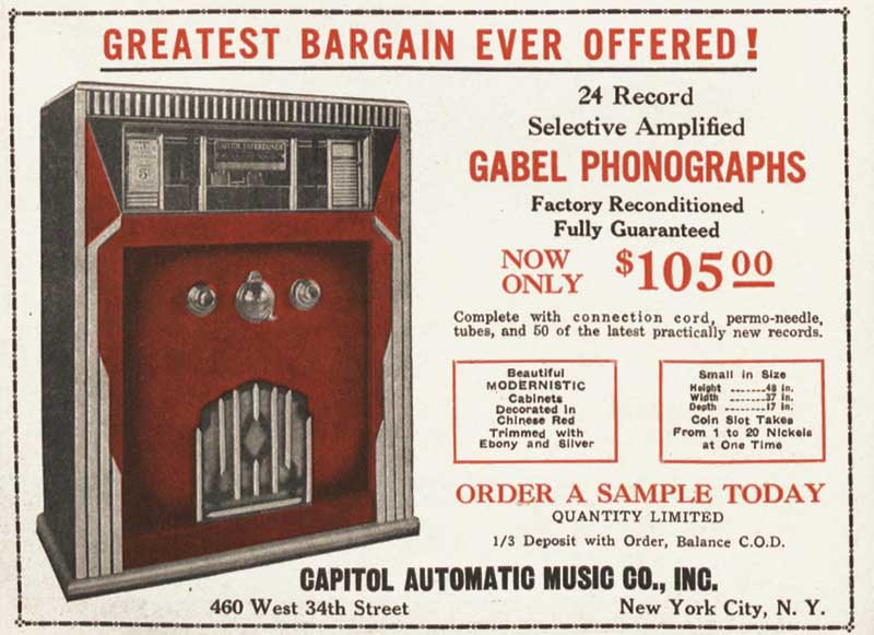 Gabel Entertainer Capitol Music Entertainer