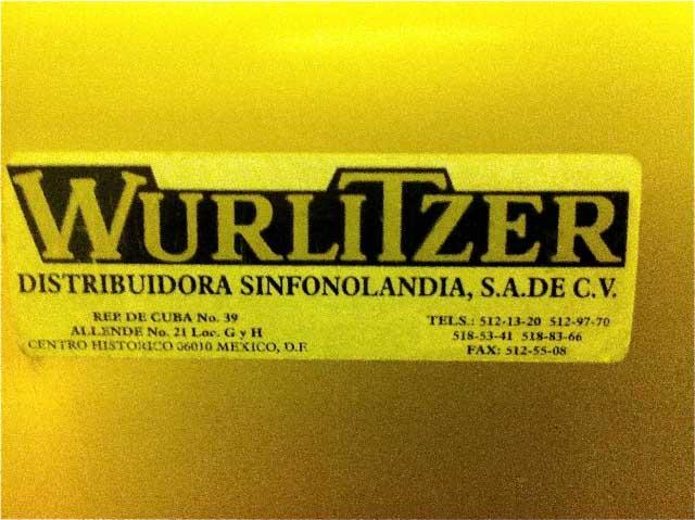 Casa Riojas Wurlitzer 2100 Mexico Jukebox Sinfonola v