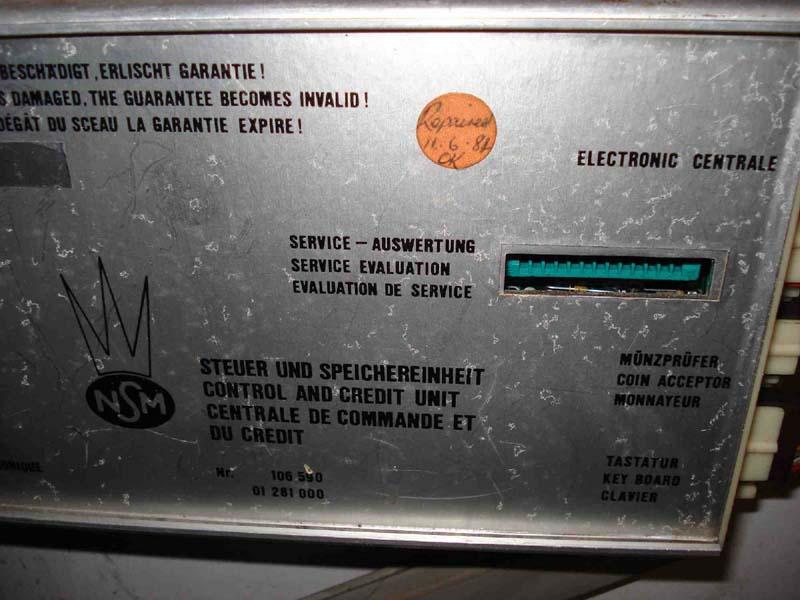 NSM Steuer- und Speichereinheit control and credit unit