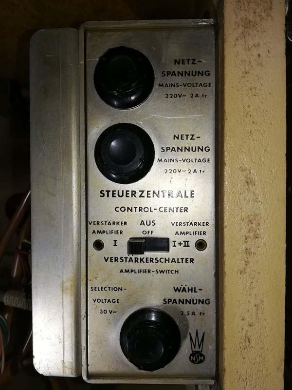 NSM Steuerzentrale control and credit unit