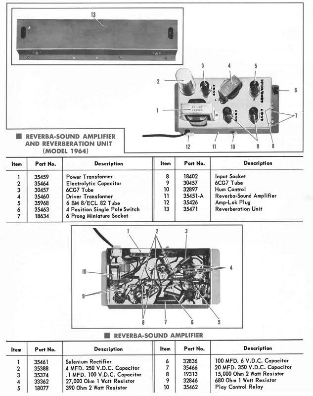 Rock-Ola 1493 Princess Reverbaration Unit Reverba Sound