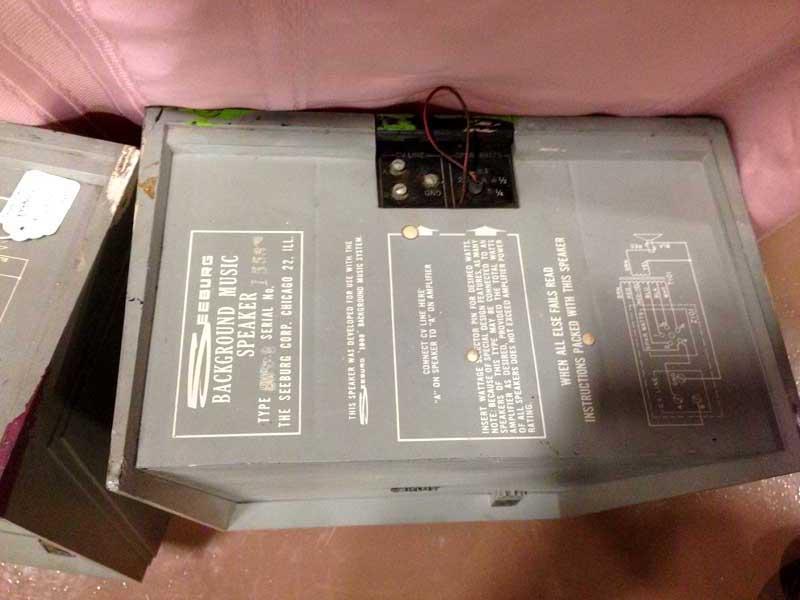Seeburg Background Music System BMS 1000 Backgound Speaker BTWW