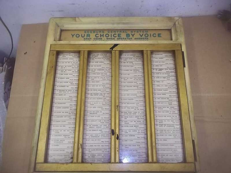 Seeburg Your Choice by Voice Jukebox Musikbox