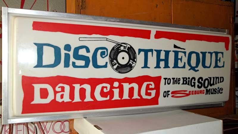 Seeburg Doscotheque Sign Big Sound