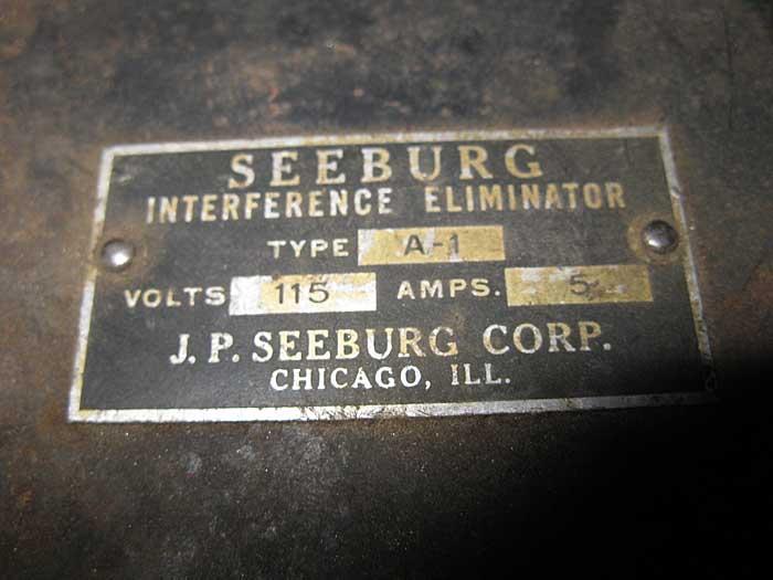 Seeburg Interference Eliminator Type A-1
