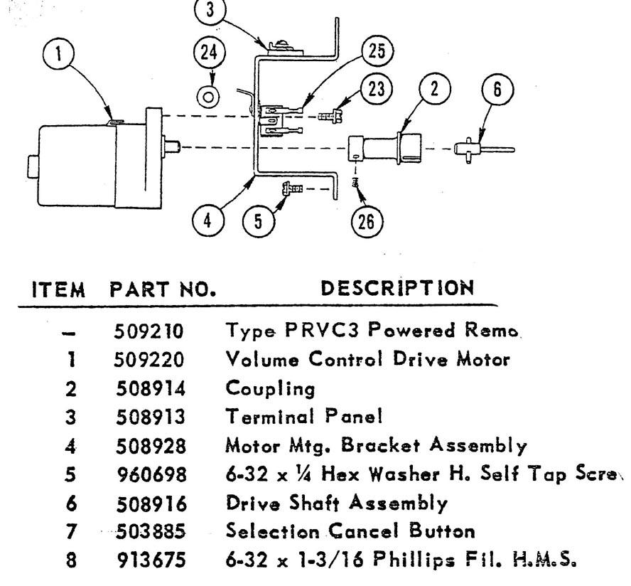 Jukebox-World Seeburg PRVC Remote Volume Control