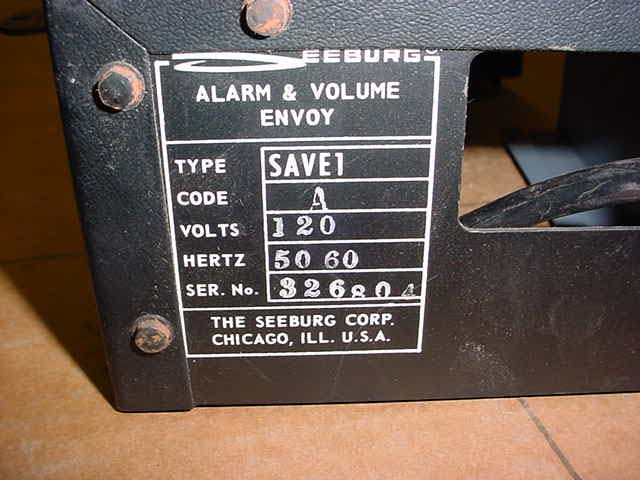 Seeburg SAVE Alarm & Volume Envoy