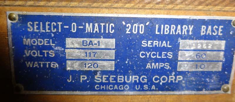 Seeburg Library Unit SLBA1