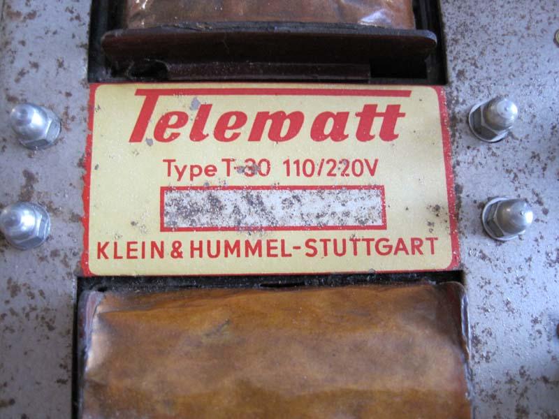Tonomat Telematic 100 telewatt T30 Klein & Hummel