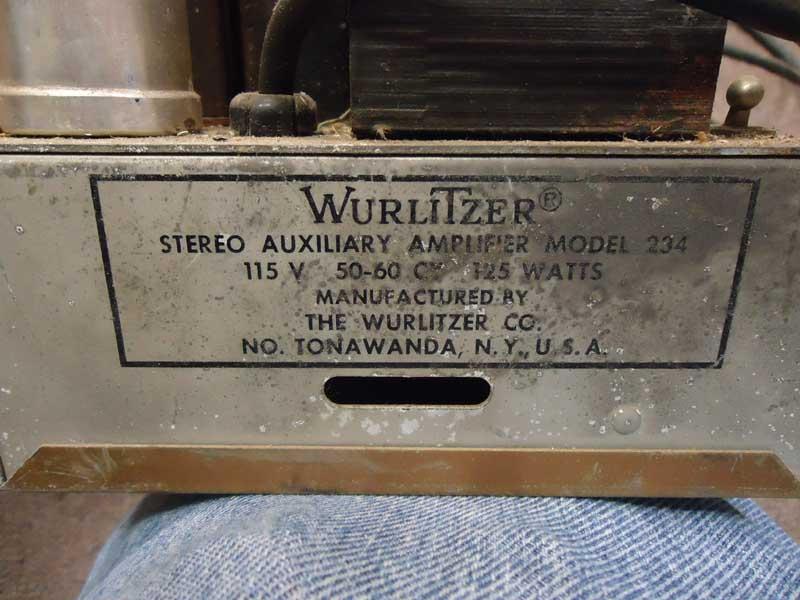 Wurlitzer 234 amplifier