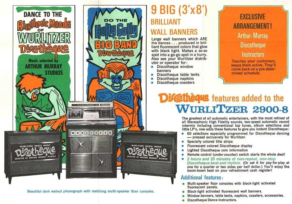 Wurlitzer 2900-8 Discothéque - Copyright
