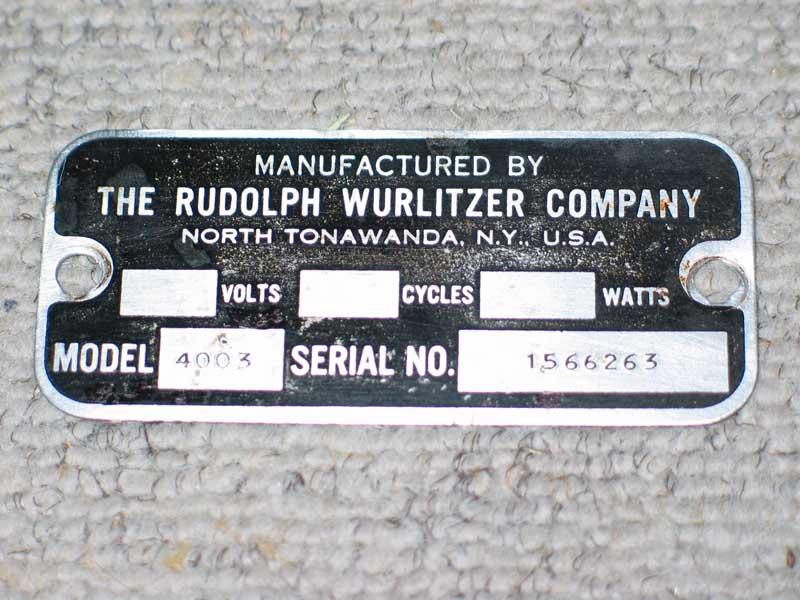 Wurlitzer 4003