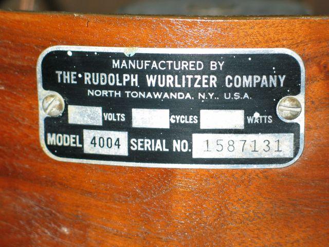 Wurlitzer 4004