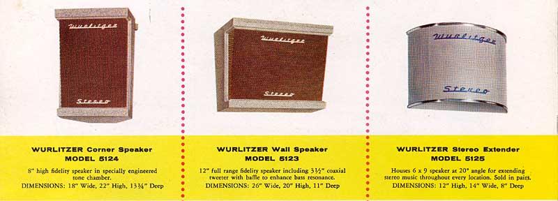 Wurlitzer Speaker 5122 5123 5124 5125 Jukebox Musikbox