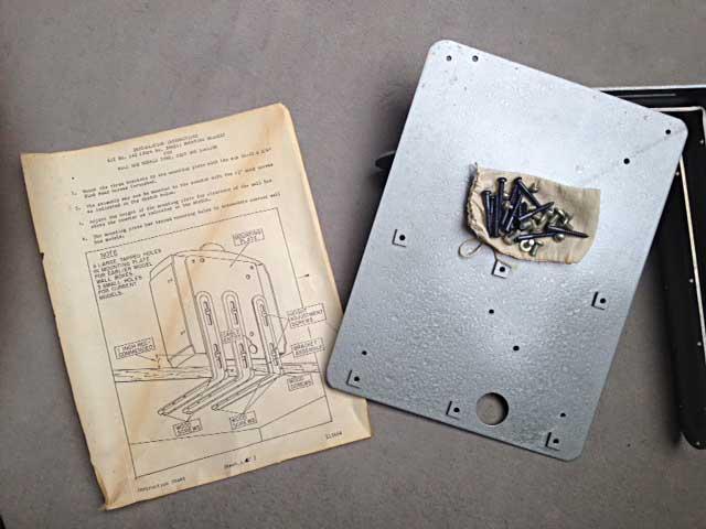 Wurlitzer Fernwähler mounting bracket Kit 142