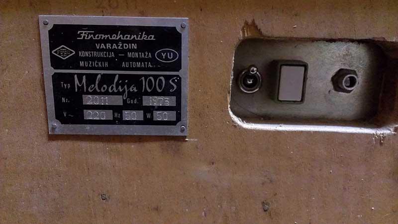 Melodija 100S Finemehanika Jukebox