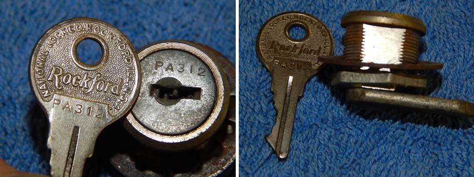 Wurlitzer Rockford PA schlüssel Key cashbox kasse