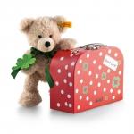 Fynn Teddybär mit rotem Koffer