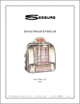 Service Manual Seeburg 3W1, 3W1-D