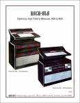 Service Manual Rock-Ola 459 and 460