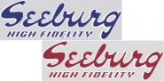 "Aufkleber ""Seeburg High Fidelity"" R, J"