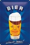"""Blechpostkarte """"Bier schmeckt immer"""""""