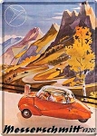 """Blechpostkarte """"Messerschmitt"""""""