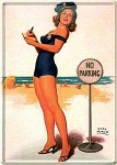 "Blechpostkarte ""Pin Up No Parking"""