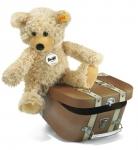 Charly Teddybär mit braunem Koffer
