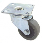 Single caster, rubber