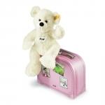 Lotte Teddybär mit rosa Koffer