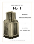Service Manual No. 1 Seeburg Symphonolas