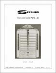 Service Manual Seeburg W4-L56, W6-L56
