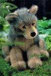 """Wolfswelpe """"Jurek"""", sitzend"""