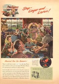 "Wurlitzer ad ""Stop Linger and Listen"""