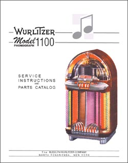 Service Manual Wurlitzer 1100